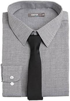 Custer Camisa y Corbata Hombre 37/38, Hombre, Color Gris - Gris ...