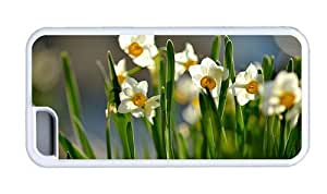 Hipster free shipping iPhone 5C cover spring daffodils White for Apple iPhone 5C