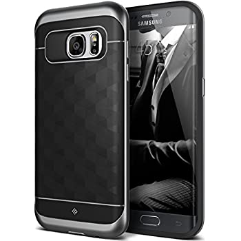 Galaxy S7 Edge Case, Caseology [Parallax Series] Slim Premium PU Leather Dual Layer Protective Corner Cushion Design for Samsung Galaxy S7 Edge (2016) - Black