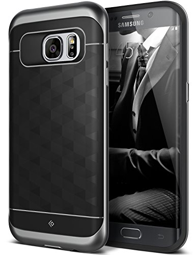 Galaxy S7 Edge Case, Caseology [Parallax Series] Slim Premium PU Leather Dual Layer Protective Corner Cushion Design for Samsung Galaxy S7 Edge (2016) – Black