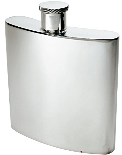 Large Pewter Hip Flask 26oz Kidney Shape Giant Size Ideal for Engraving by iLuv