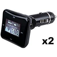 Scosche FM FREQ Universal Digital FM Transmitter and USB Car Charger (Case pack of 2)