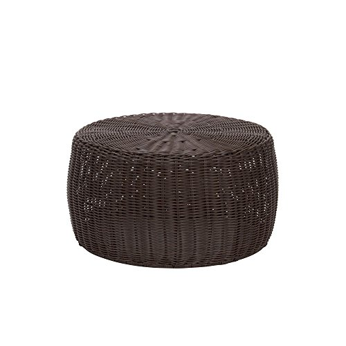- Household Essentials ML-5005 Resin Wicker Footstool Ottoman | Brown