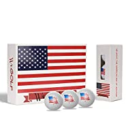 Geodesic Logistics Golf Balls (One Dozen), Long Distance Golf Balls, for Dad, for Him, White Golf Balls, USA,
