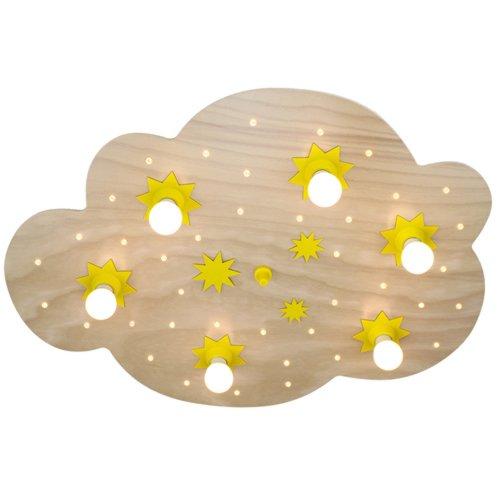 Elobra Deckenleuchte Sternenwolke, Buche natur 125632