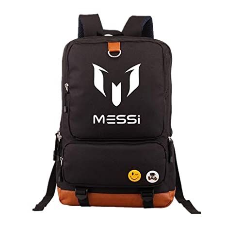 Amazon.com: Logo Messi Backpacks Teenagers School Bags ...