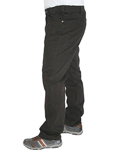 Mustang Stretch Jeans Hose Tramper 111.6676 marine oder braun Rippoptik, Farbe:Braun, Weite / Länge:33 / 32
