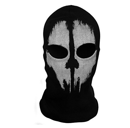 SzBlaZe Unisex Cotton Ghost Print Stocking Balaclava Mask Good For War Game Halloween Cosplay (Print -