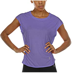 icyzone Workout Cap Sleeves Tops for Women - Fitness Gym Yoga Running Exercise T-Shirt 16