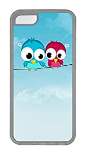 iPhone 5C Cases & Covers - Cute Birds Custom TPU Soft Case Cover Protector for iPhone 5C - Transparent