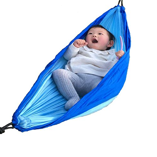Funlife Rip Stop Nylon Parachute Camping Hammock Variety Size for Infant Toddler Teenage,Included 2 Carabiners and Ropes