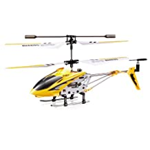 Syma S107G 3.5 Channel RC Helicopter with Gyro, Yellow