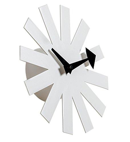 MLF Nelson Asterisk Clock, White