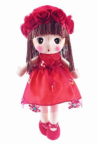 HWD Kawaii Flower Fairy Stuffed Soft Plush Toy Doll Girls Gift , 18 Inch ( Red )