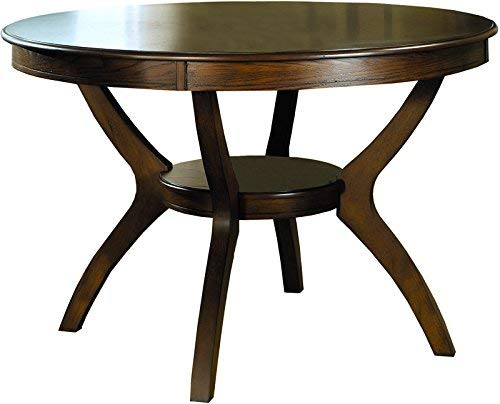 - Nelms Table with Shelf Deep Brown