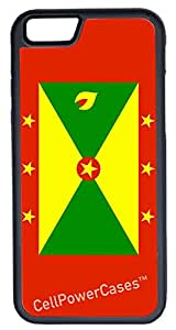 iPhone 6 Case, CellPowerCasesTM Grenada Flag [Protect Series] -iPhone 6 (4.7) Black Case [iPhone 6 (4.7) Protective V1 Black]