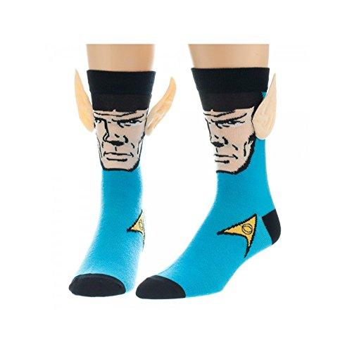 Super Hero Star Trek Spock Crew Socks With Ears By Superheroes