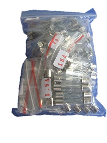 6x30mm Slow Blow Glass Tube Fuse Assorted Kit, 7 value total 70pcs assorted kit