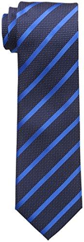 Sean John Men's Diamond Texture Stripe Tie, Navy, One Size