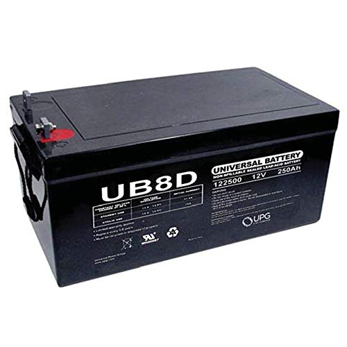 Universal Power Group UPG 45964 - UB-8D AGM - AGM Battery - Sealed Lead Acid - 12 Volt - 250 Ah Capacity - L4 Terminal