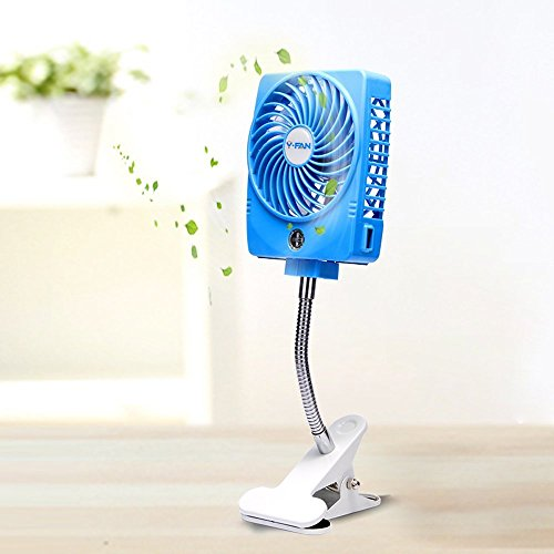 Portable Fan With Led Light - 6
