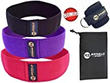 ArnoldSport Hip Band Resistance Set of 3 (Black, Purple, Red) Circle Loop Exercise Elastic Slingshot for Legs, Booty, Thighs, Hips, Glutes, Fitness Workout Men and Women with Ankle Strap and Carry Bag Review