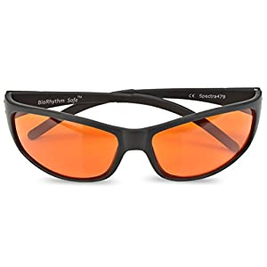 Blue Blocking Amber Glasses for Sleep - BioRhythm Safe(TM) - Nighttime Eye Wear - Special Orange Tinted Glasses Help You Sleep and Relax Your Eyes