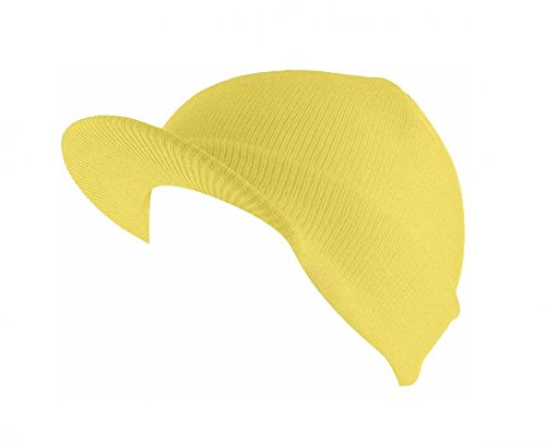 Yellow_(US Seller)Skull Unisex Visor Beanies Hat Ski Cap - Sunglasses Fast Track Womens For