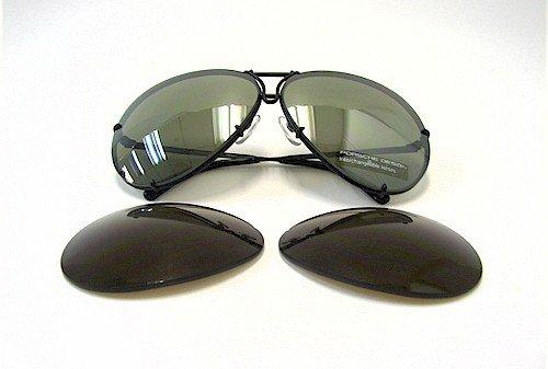 Ruthenium Design Dark Sonnenbrille Porsche mirror P8478 Grey Green Semi q4wIwx