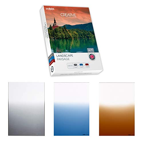 Cokin Landscape Creative Kit - Includes Gnd 3-Stop Soft (121S), Gdn Blue Soft (123S), Gnd Tobacco Soft (125S) for L (Z) Series Holder - 100mm X 150mm