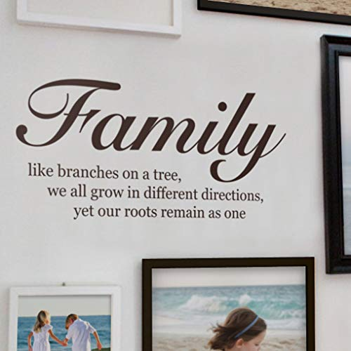 family decals brown - 2