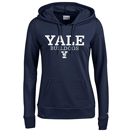 Champion NCAA Women's Comfortable Fit Long Sleeve University Fleece Hoodie , Yale Bulldogs, Medium