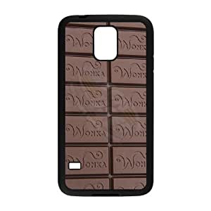 Special Design Case Samsung Galaxy S5 I9600 Black Cell Phone Case Meyae Willy Wonka Golden Ticket Chocolate Bar Durable Rubber Cover