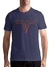 Van Halen 'Classic Logo' Men's Leisure Tee Athletic Navy S-6XL