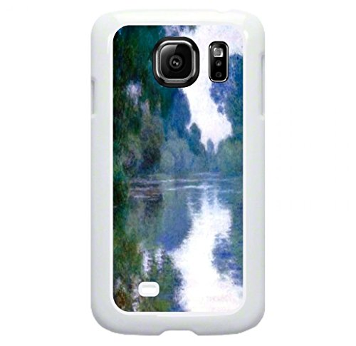 Claude Monet's Branch of Sien near Giverny Print Design © TM Plastic Case in White for the Standard Samsung Galaxy s7 Only; Made in the - Monet Tree Lake Claude