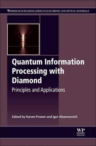 Quantum Information Processing With Diamond  Principles And Applications  Woodhead Publishing Series In Electronic And Optical Materials Band 63