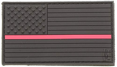 Maxpedition Gear Large USA Flag Patch, Firefighter Thin Red Line, 3.25 x -
