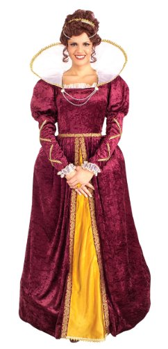 [Forum Queen Elizabeth Dress and Crown, Purple, One Size Costume] (Victorian Womens Costumes)