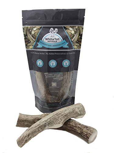 WhiteTail Naturals | 2 Pack Large | Deer Antlers for Dogs, All Natural Dog Chews | Grade A Antler Chew Bones | Made in The USA