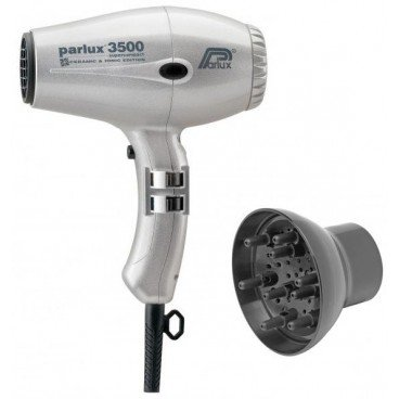 Paquete compacto Secador Parlux 3500 Ionic Silver + Difusor