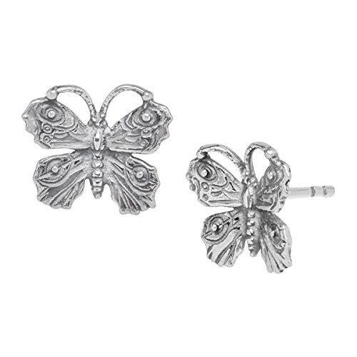 - Van Kempen Art Nouveau Butterfly Stud Earrings in Sterling Silver