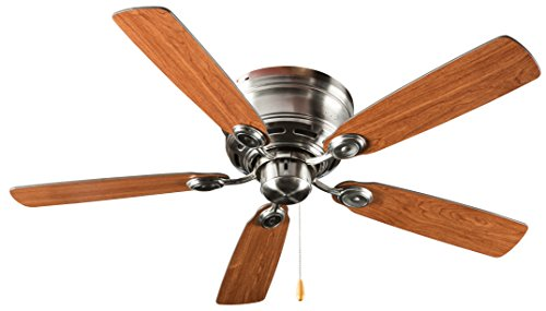 Hyperikon 42 Inch Ceiling Fan, with Pull Chain, Ceiling Fan, Brushed Nickel, 5 Reversible Blades No Light Fixture