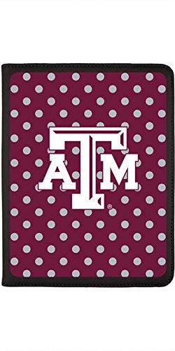 Texas A&M University Mini Polka Dots Design on Black 2nd-4th Generation iPad Swivel Stand Case