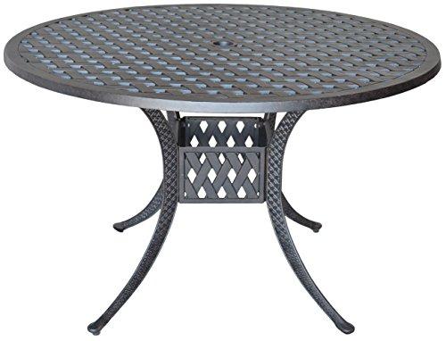 - K&B PATIO LD1031A-48 Nassau Dining Table, 48