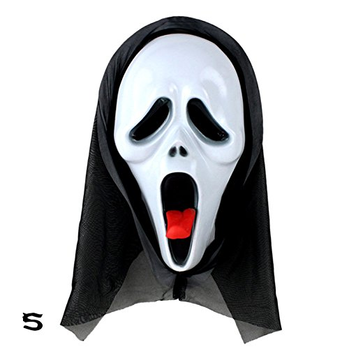 Eachbid Ghost Scream Face Costume Party Hood Horror Halloween Mask Fancy Stylish