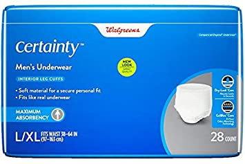 705f0e054c Amazon.com  Walgreens Certainty Men s Underwear Maximum Absorbency ...