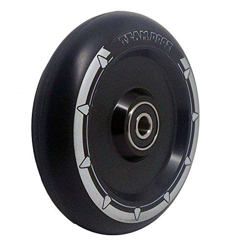 (Black, 100mm) - Single Team Dogz 100mm & 110mm UFO Hollow Core Scooter Wheel ABEC11 Also Fits MGP Blunt Slamm Razor Crisp Grit Etc