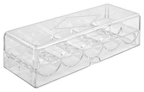 Clear Acrylic Chip Tray (Clear Acrylic Chip Tray & Cover)