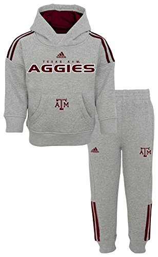 Outerstuff NCAA Texas A&M Aggies Children Boys Training Day Fleece Hoodie & Tapered Pant Set, 12 Months, Heather Grey