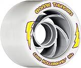 RollerBones Bonnie Thunders Signature Wheel Set of 8 Rollerskate Wheels (White, 96A)